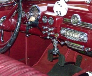 cars, maroon, and red image