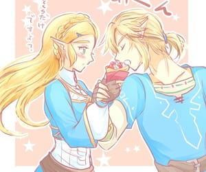 blush, eating, and link image