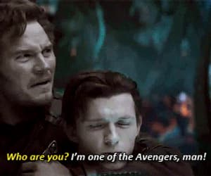 gif, star lord, and infinity war image