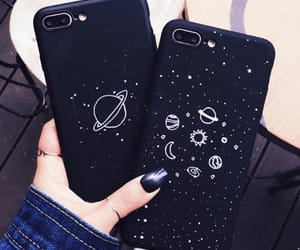black, iphone, and case image