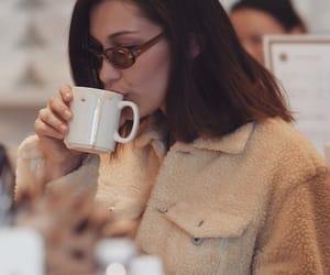 coffee, model, and bella hadid image
