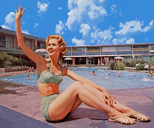 50s, pool, and retro image