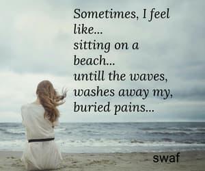 alone, beach, and feelings image