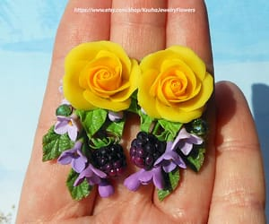 etsy, floral earrings, and summer earrings image