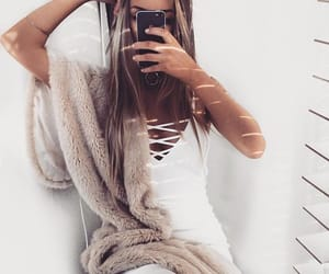 arm, blanket, and girl image