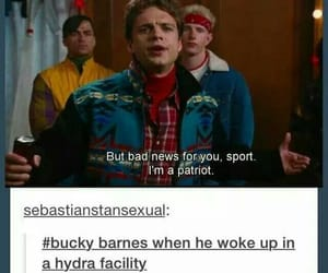 bucky barnes, Marvel, and funny image