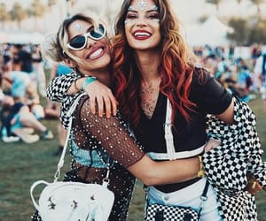 coachella, girl, and friendship image
