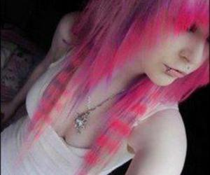 scene, girl, and pink hair image