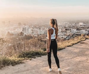 fashion, hiking, and view image