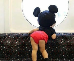 baby, mickey mouse, and adorable image