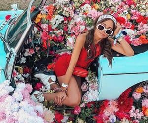 coachella, flowers, and girl image