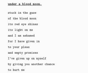blood, moon, and pleas image