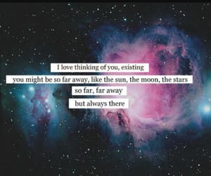 quotes, space, and love image