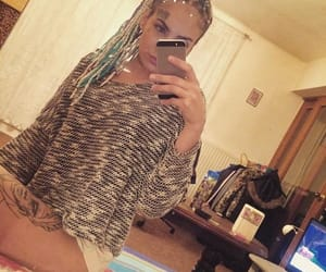 braids, face tattoo, and ink image