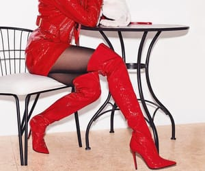 high heels, leather boots, and overknee boots image