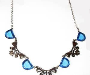 etsy, vintage jewelry, and blue silver necklace image