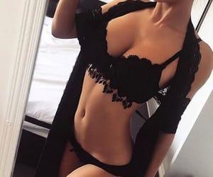 black, panties, and pretty image