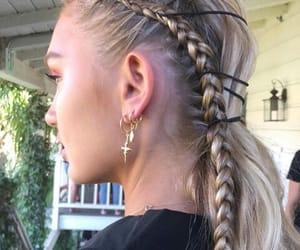 braid, hair, and model image