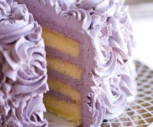 cake, sweet, and purple image
