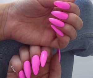 beauty, pink nails, and hands image