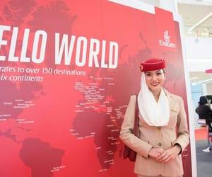 airplane, Dubai, and places image