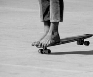 b&w, skate, and vintage image