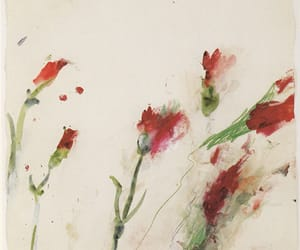 flowers, painting, and art image