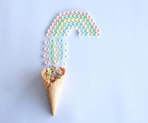 rainbow, pastel, and candy image