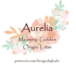 aurelia, meaning, and baby name image