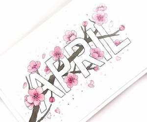 april, handlettering, and handwriting image