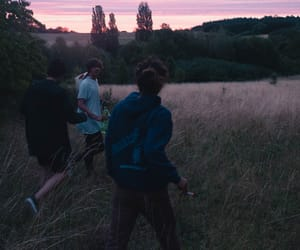 friends, grunge, and sunset image