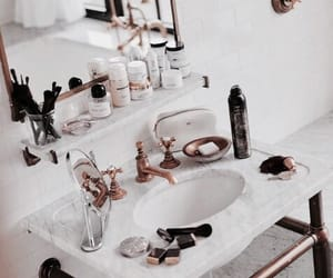 interior, bathroom, and beauty image