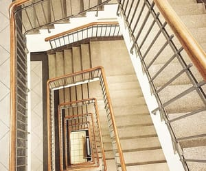 beige, stairway, and staircase image