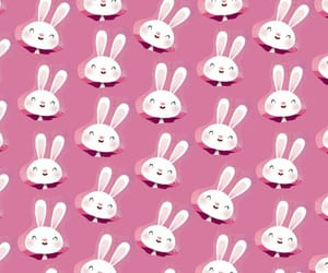 bunny, happy, and pattern image