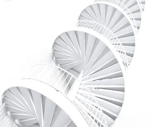 minimalism, spiral, and stairs image