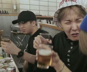drinking, kim namjoon, and meme image