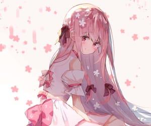 anime girl, manga girl, and pink image