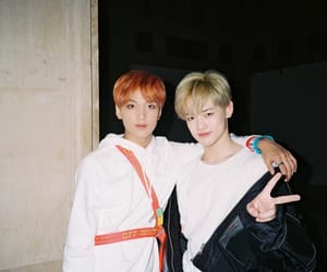 haechan, nct, and chenle image