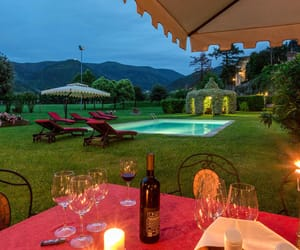 italy, vacation, and villa image