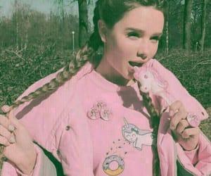 girl, pink, and ice image