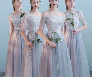 girl, tulle, and tea length dress image