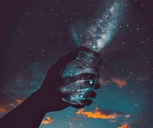 beautiful, milky way, and sky image