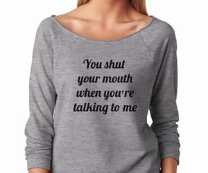 design, mouth, and sweater image