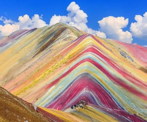 travel, beauty of nature, and rainbow mountain image