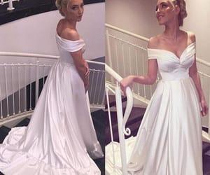princess wedding dress and satin wedding dress image