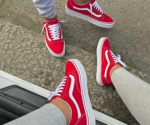 fashion, red, and vans image