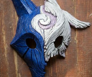 kindred, mask, and league of legends image
