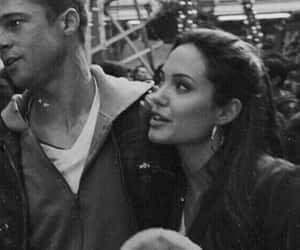 couple, Angelina Jolie, and brad pitt image