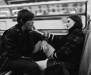 black and white, couple, and sweet image