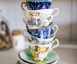 article, blue, and tea image